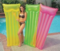 Intex Neon Frost Air Mat Pool Float Raft (colors may vary)