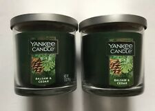 YANKEE CANDLE BALSAM & CEDAR 7 oz SMALL TUMBLERS X 2 FAVORITE SCENT