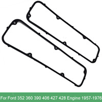 Steel Core Rubber Valve Cover Gaskets For 1957-1976 Ford 352 360 390 406 427 428