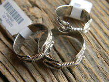 Sterling silver Navajo made  double feather band ring sizes  7