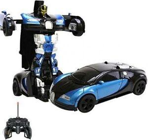 Transform RC Car Robot, 2.4Ghz Transformers Robot Bugatti Car Toys -01