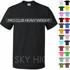 PROCLUB Mens HEAVY T Shirts Crew Neck Short Sleeve S-5XL Super Max Hip Hop Tee