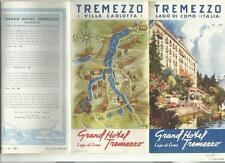 RARA GUIDA TURISTICA D' EPOCA GRAND HOTEL TREMEZZO LAGO DI COMO ITALIA