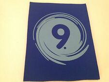 """Neoprene Sewing Patch Number 9 Swirl Royal Blue Rectangle 8"""" x 6"""" Soft"""
