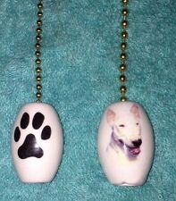 One Bull Terrier Dog Fan Pull With A Paw Print On The Back 1""