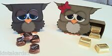 Matchbox Owl Gift Box Pre-cut Stampin' Up! Cardstock Punch Art Kit - Makes 2