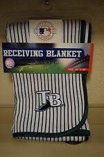 """MLB Tampa Bay Rays Receiving Baby Blanket NWT 30"""" x 40"""""""