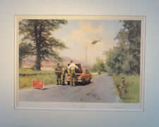 David Shepherd Very Rare Print. Checkpoint at Forkhill. 1979