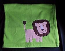 Just One Year Green Fleece Lion Baby Blanket Lovey