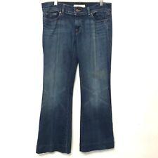 J Brand LoveStory Jeans 31 72201 Bayou Blue Denim Cotton Womens Flare Wide Leg