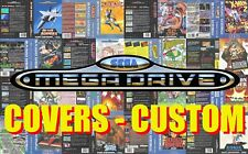 Sega Mega Drive CUSTOM (E.U.) Box Art Case Insert Cover - High Quality