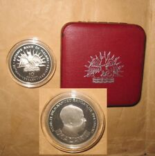 "1985 Malawi 20th Anniversary Commemorative 10 K Silver Coin with box ""RARE & SCA"