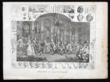 ANTIQUE Vintage c1700's Analysis of Beauty #2 WILLIAM HOGARTH Etching Engraving