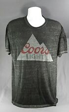 COORS LIGHT DISTRESSED MOUNTAIN LOGO BURNOUT T-SHIRT L/XL 50/50 cotton/polyester