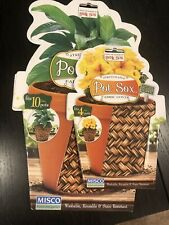 Pot Sox 4� + 10� Set Of Stretchable Fabric Planter Cover ~ Basketweave