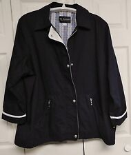 P.A. ORIGINALS Woman's Lined Light Weight Jacket...EUC..3X..Removeable Hood