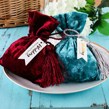 10PCS Velvet Jewellery Drawstring Wedding Candy Gift Bag Favour Pouches Bags