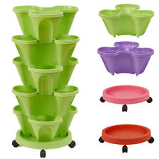 Stackable Strawberry Tower  Gardening Pot Flower Vegetable Baskets Boxes GREEN