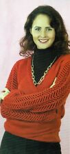 """~ Pull-Out Knitting Pattern For Lady's Lace Sleeve Wrap Cardigan ~ 32"""" ~ 40"""""""