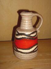 Bay Keramik 1 Vase, Blumenvase, Tischvase, rot-braun-beiges Dekor