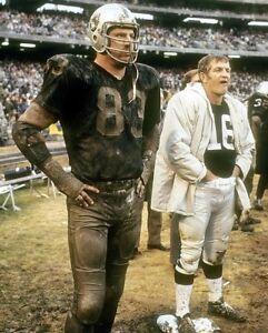 GEORGE BLANDA & BEN DAVIDSON 8X10 PHOTO OAKLAND RAIDERS PICTURE NFL FOOTBALL
