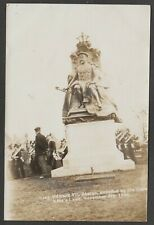 Postcard King's Lynn Norfolk unveiling King Edward VII Statue by Queen 1906 RP