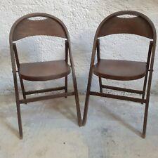 Paire de chaise pliante Thonet B751 Vintage Bois courbé Fishel