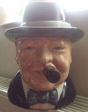 Bairstow Manor  Winston Churchill Character Jug The Yalta smoking his cigar