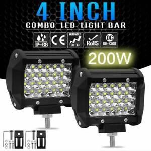 4inch 200W LED Combo Work Light Spotlight OffRoad Driving Fog Lamp Truck Boat
