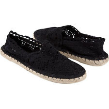 Soda Crochet Espadrille Black Womens Shoes Size 5.5 BNWT