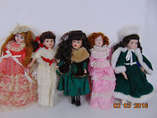 Vintage Porcelain? Dolls Lot of 5 Girls Stands,Heritage ,Royal , Unmarked