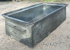 Industrial Stackable Steel storage Tote Pan Planter Stands Recycled