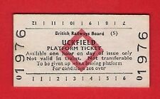 Edmondson Ticket ~ BRB(S) Platform - Uckfield - Red Diamond: White Card - 1979