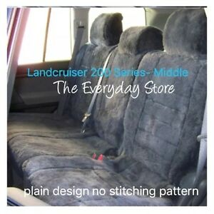 Custom Made Sheepskin Seat Covers For Toyota Landcruiser 200 Series Middle 30MM