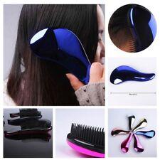 Massage Comb Handle Plating Hair Brush Tangle Anti-knot Detangling Styling Tool