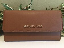 Michael Kors Jet Set Travel Large Trifold Wallet in Leather Luggage