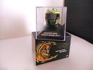 Casque Valentino Rossi MOTO GP MISANO 2011 Minichamps 1/8