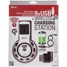 Xenic Stazione di Ricarica Forr 8 Porte USB e Funzione di Ricarica Wireless BC80