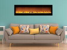"""XXL 72"""" Electric Fireplace Sideline72"""" ™ Touchstone w/ Heat Remote Black  NEW!"""