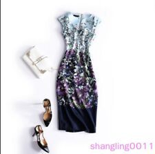 Womens Ladies High-end Entangled Entanglement butterfly bodycon Floral dress New