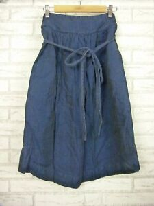 Gorman Midi skirt Denim look Sz 12 linen cotton