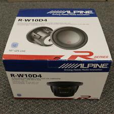 "ALPINE R-W10D4 10"" SUBWOOFER CAR AUDIO DUAL 4 OHM 750W RMS SUB 2250W PEAK DVC"