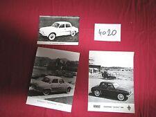 N°4020 /  RENAULT Dauphine Gordini et berline : 3 photos constructeurs 1957-1960