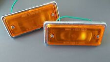 FITS Nissan Datsun 620 1972-78 Front Turn Signal Indicators Set On Fenders PAIR