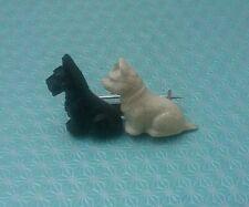Vintage Scottie & Westie Dog Brooch Pin Made In Great Britain
