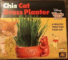 1 Chia Cat Grass Planter Disney Winnie The Pooh Chia Pet Ceramic Pottery NEW
