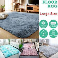 Floor Rug Rugs Shaggy Fluffy Fur Area Carpet Soft Large Pads Living Room Bedroom