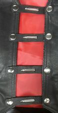 x5black leather bullet concho #163