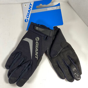 Giant Horizon LF Long Finger Bike Cycling Gloves Size Small S Black