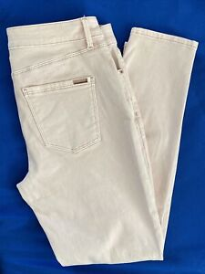 White House Black Market Women's Slim Ankle Mid Rise Pink Jeans Size 4